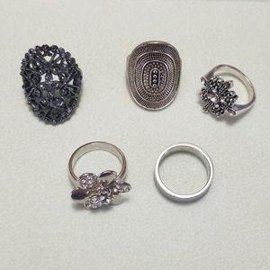 Lot of 5 Costume Rings